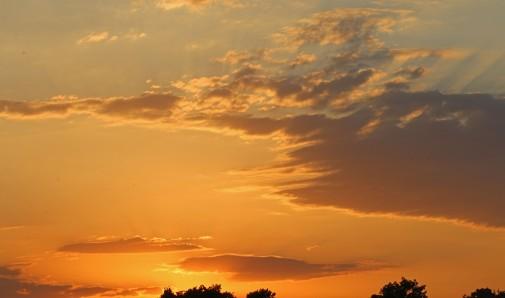 solnedgång över Greenwich