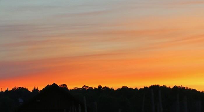 solnedgång över Kungsängen