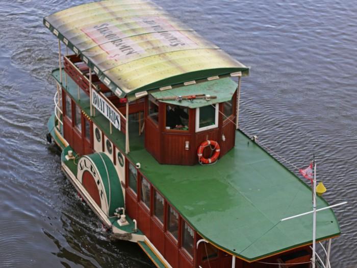 båt på Moldau