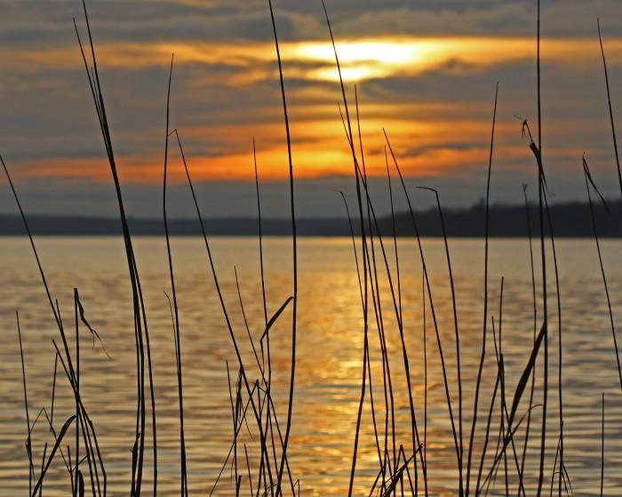solnedgång vid Skaris